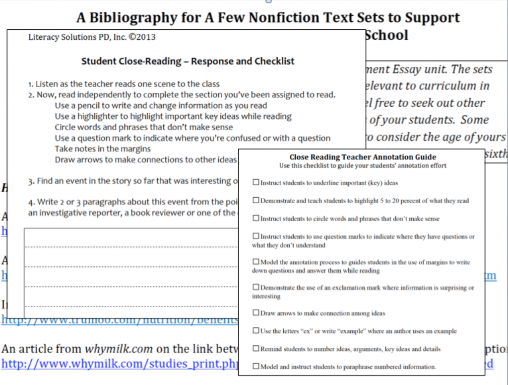 Close Reading Resourcesanize A Summer Reading Program How To Annotate